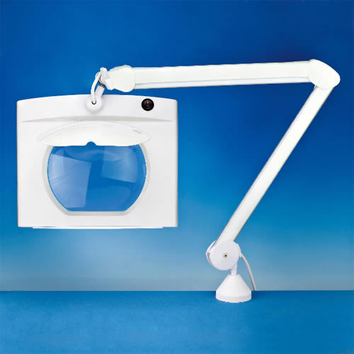Industrial Magnifier Lamp With Wide Glass Lens Magnifico